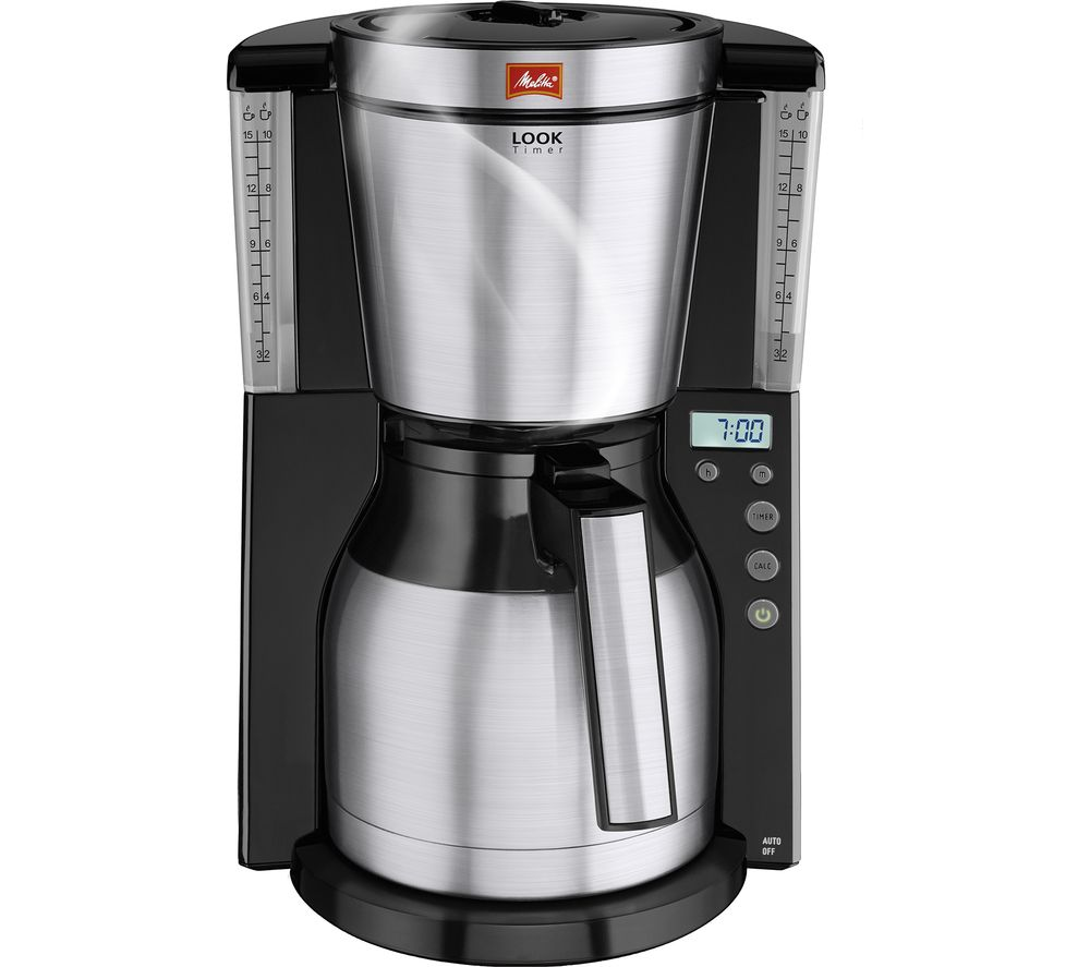MELITTA Look IV Therm Timer Filter Coffee Machine - Black & Stainless Steel