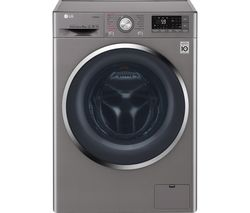 LG F4J7VY2S Smart 9 kg 1400 Spin Washing Machine - Shine Steel