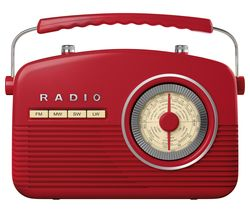 AKAI Portable FM/AM Retro Radio - Red