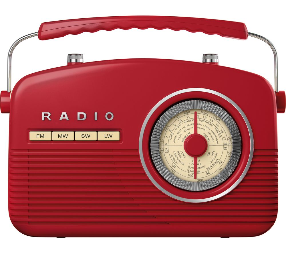 AKAI Portable Analogue Retro Radio - Red