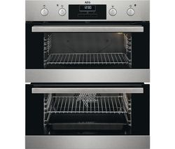 AEG SurroundCook DUB331110M Electric Double Oven - Stainless Steel
