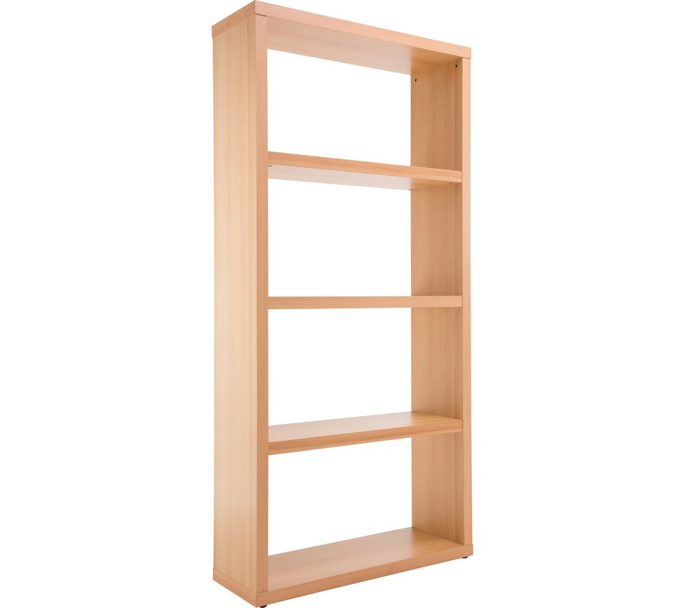 Compare retail prices of Aphason Maine Wide Bookcase - Beech to get the best deal online