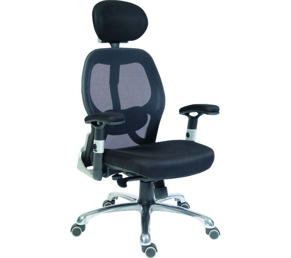 Compare prices for Teknik Cobham OA1013BLK Mesh Reclining Executive Chair