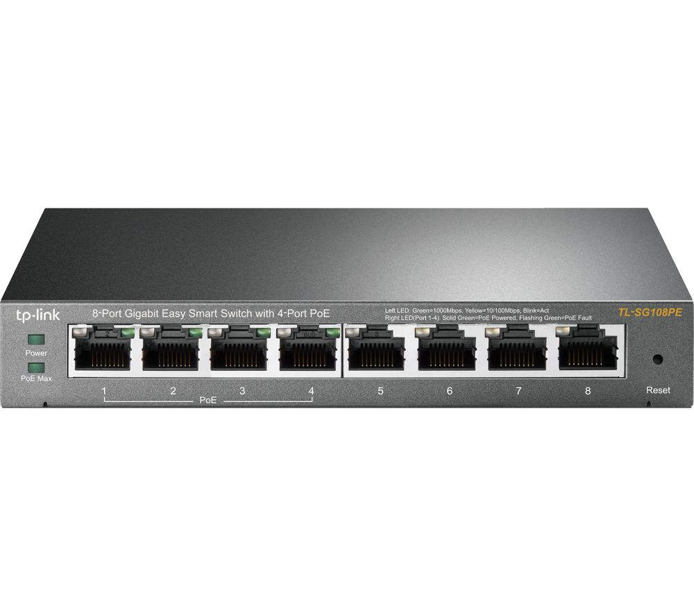 TP-LINK TL-SG108PE Managed Network Switch - 8 Port