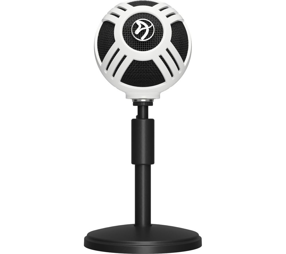 buy arozzi sfera usb microphone white free delivery currys. Black Bedroom Furniture Sets. Home Design Ideas