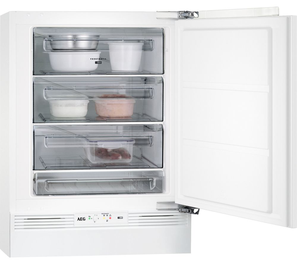 Image of AEG ABB6821VAF Integrated Undercounter Freezer, Cream