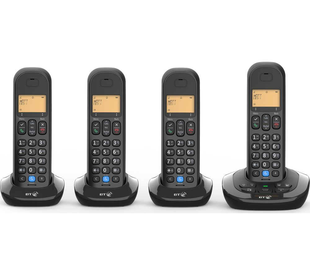 BT 3880 Cordless Phone - Quad Handsets