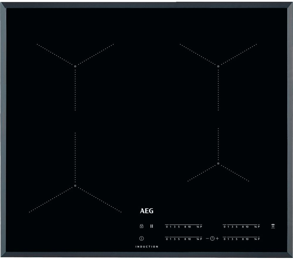 AEG IKB64431FB Electric Induction Hob – Black, Black