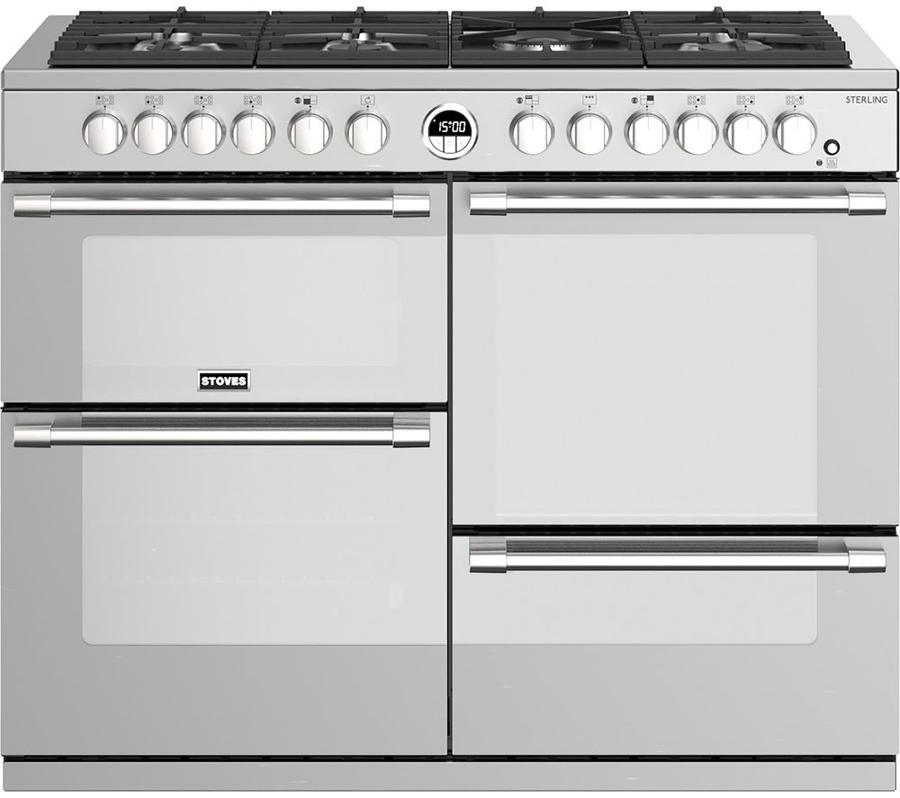 Image of STOVES Sterling S1100DF 110 cm Dual Fuel Range Cooker - Stainless Steel, Stainless Steel