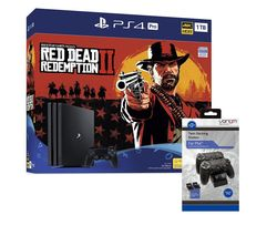 SONY PlayStation 4 Pro, Red Dead Redemption 2 & Twin Docking Station Bundle