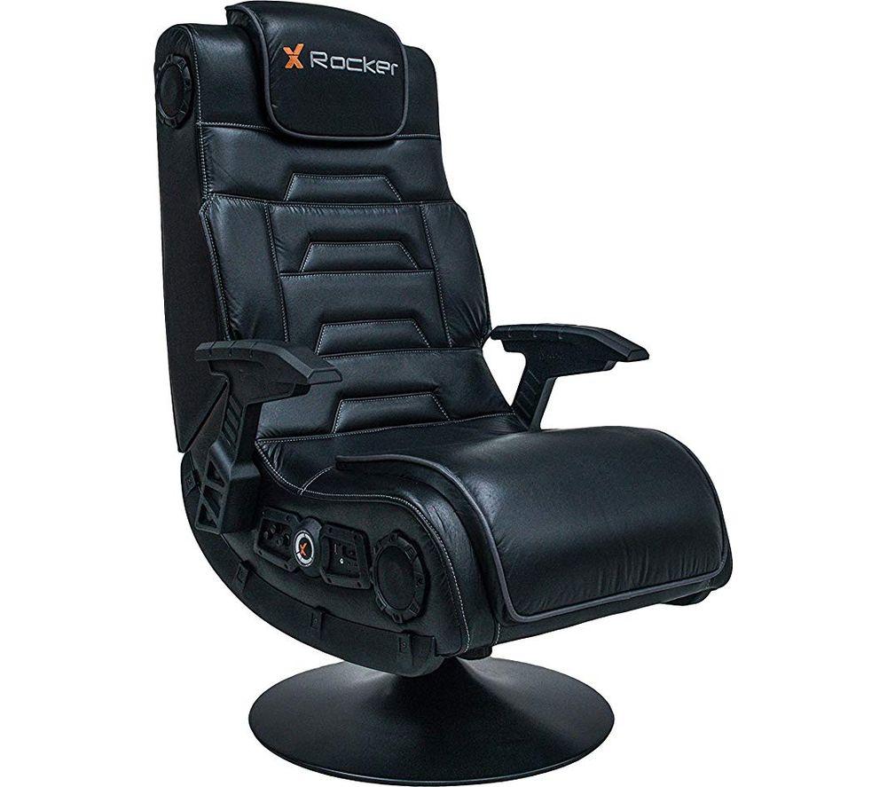 Image of X ROCKER Pro 4.1 DAC Gaming Chair - Black, Black
