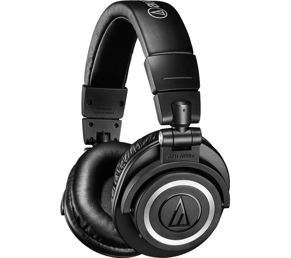 AUDIO TECHNICA ATH-M50XBT Wireless Bluetooth Headphones - Black