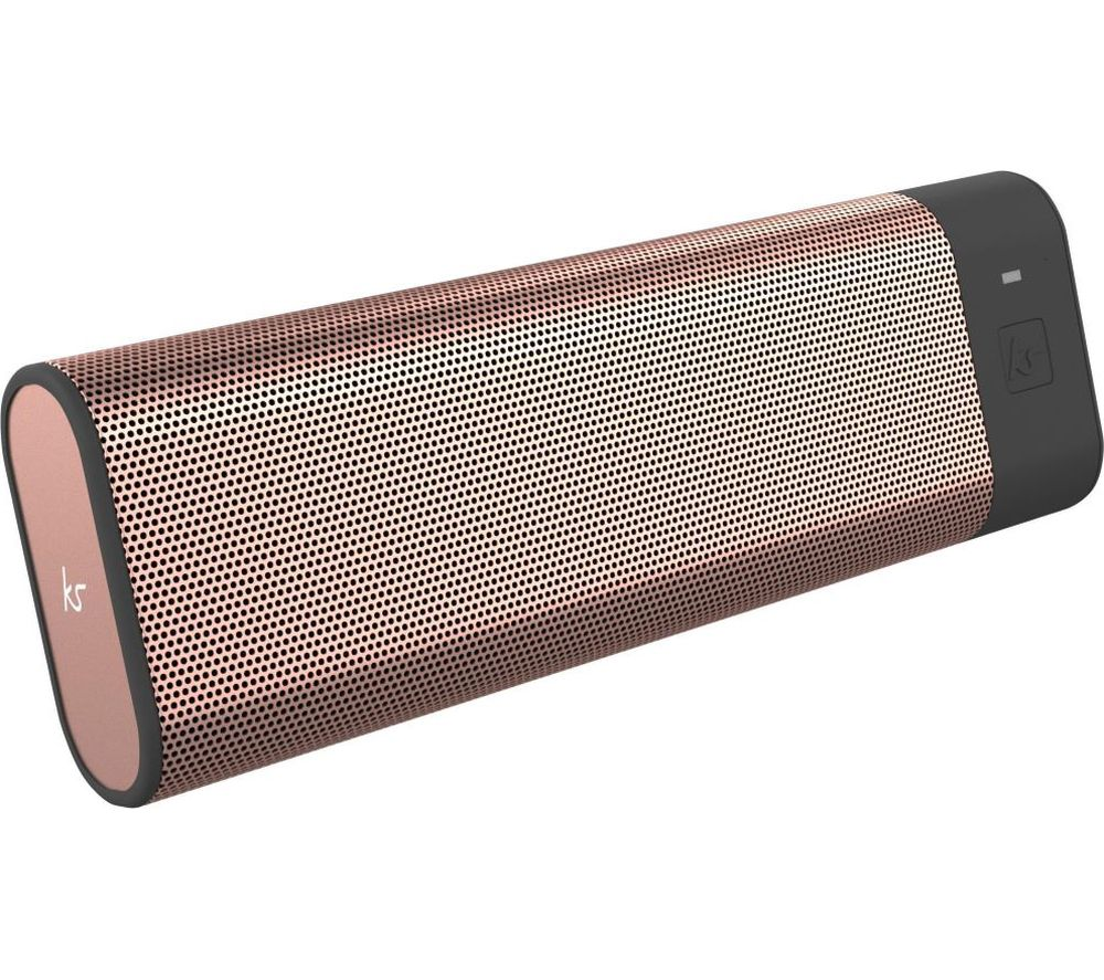 Image of KITSOUND BoomBar Portable Bluetooth Speaker - Rose Gold, Gold