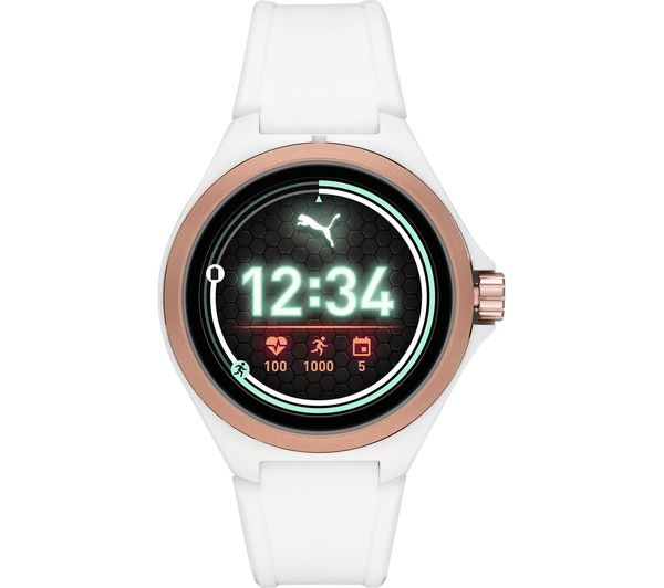Image of PUMA PT9102 Smartwatch - White & Rose Gold, Universal