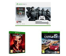 MICROSOFT Xbox One S Gears 5 Special Edition Bundle, Tekken 7 & Project Cars 2 Bundle