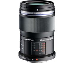 M.Zuiko Digital ED 60 mm f/2.8 Prime Macro Lens - Black