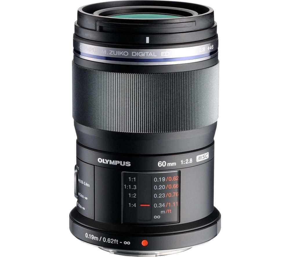Image of M.Zuiko Digital ED 60 mm f/2.8 Prime Macro Lens - Black, Black