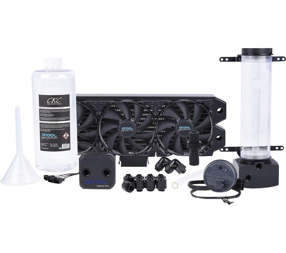 ALPHACOOL Eissturm Hurricane Copper 45 Water Cooling Kit - 3 x 120 mm