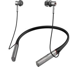 Dual Driver BT ANC Wireless Bluetooth Noise-Cancelling Earphones - Silver