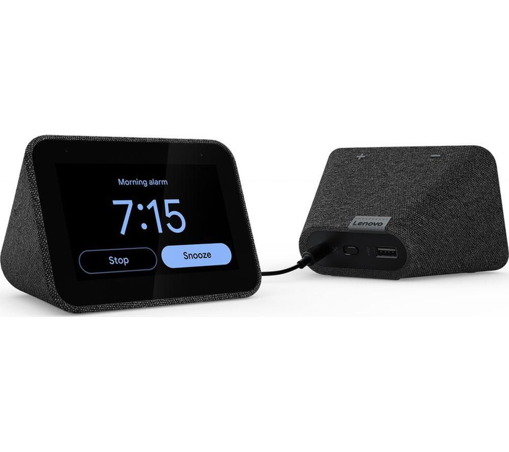 LENOVO Smart Clock with Google Assistant - Black