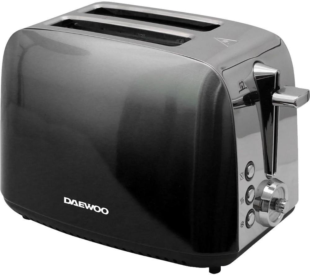 DAEWOO Callisto SDA1838 2-Slice Toaster - Black & Silver