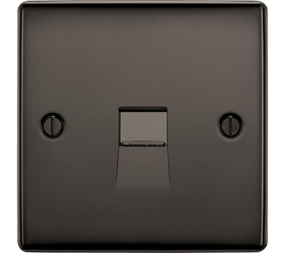 BG ELECTRICAL Master NBNBTM1-01 Telephone Socket - Black Nickel