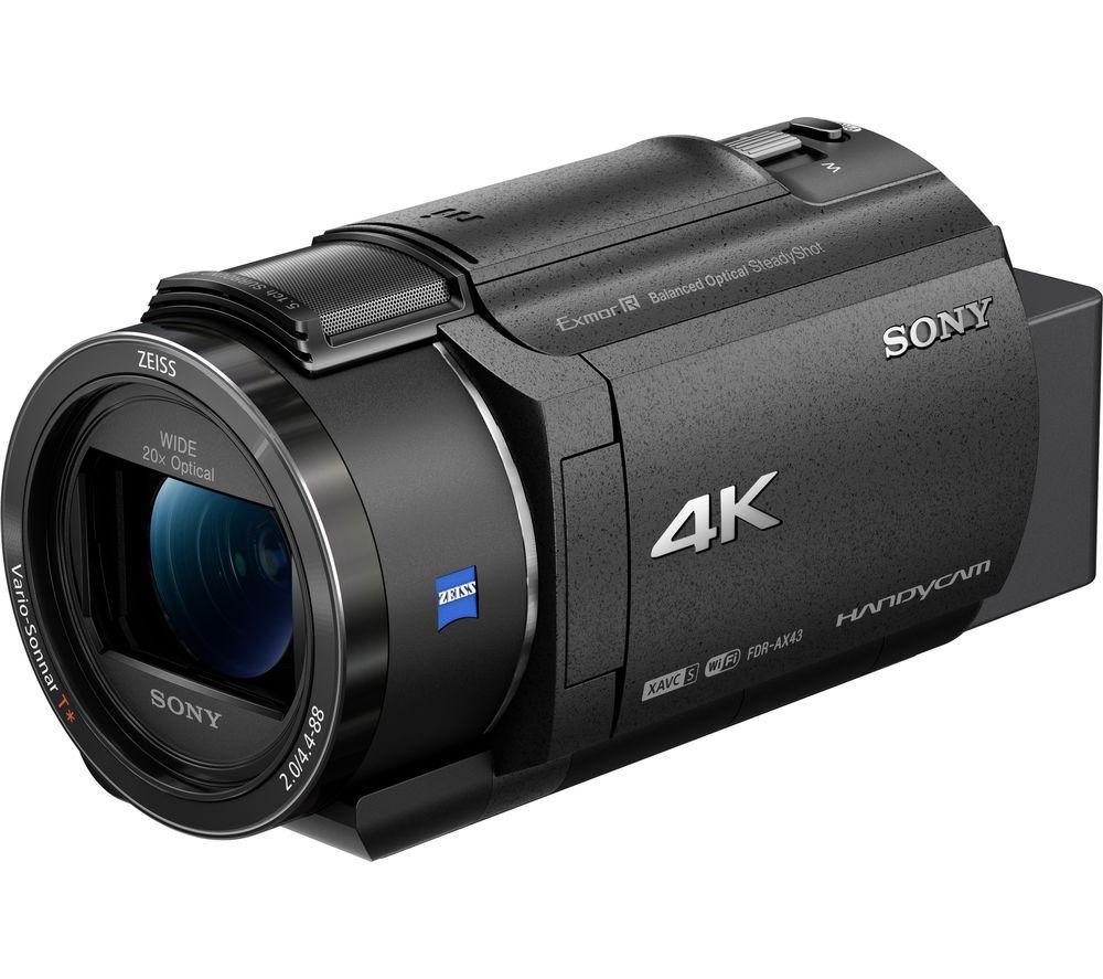 SONY FDR-AX43 4K Ultra HD Camcorder - Black