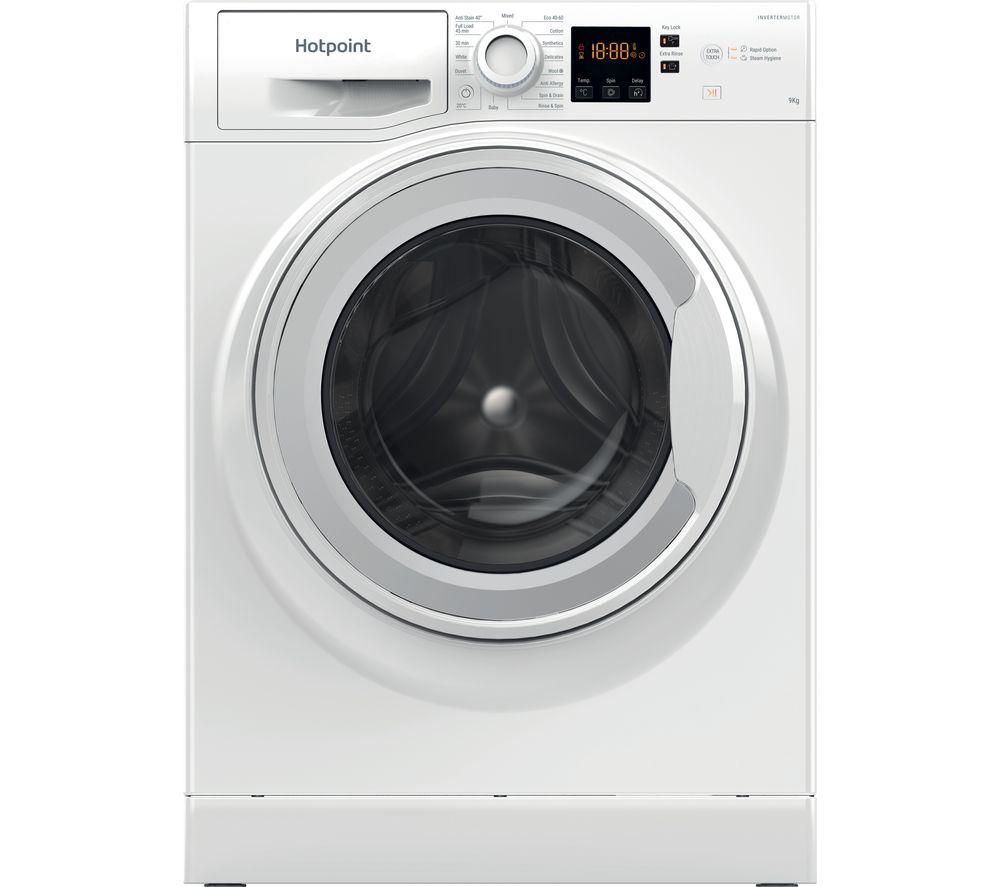 Image of HOTPOINT Coreu0026tradeu0026tradeNSWR 963C WK UK N 9 kg 1600 Spin Washing Machine - White, White