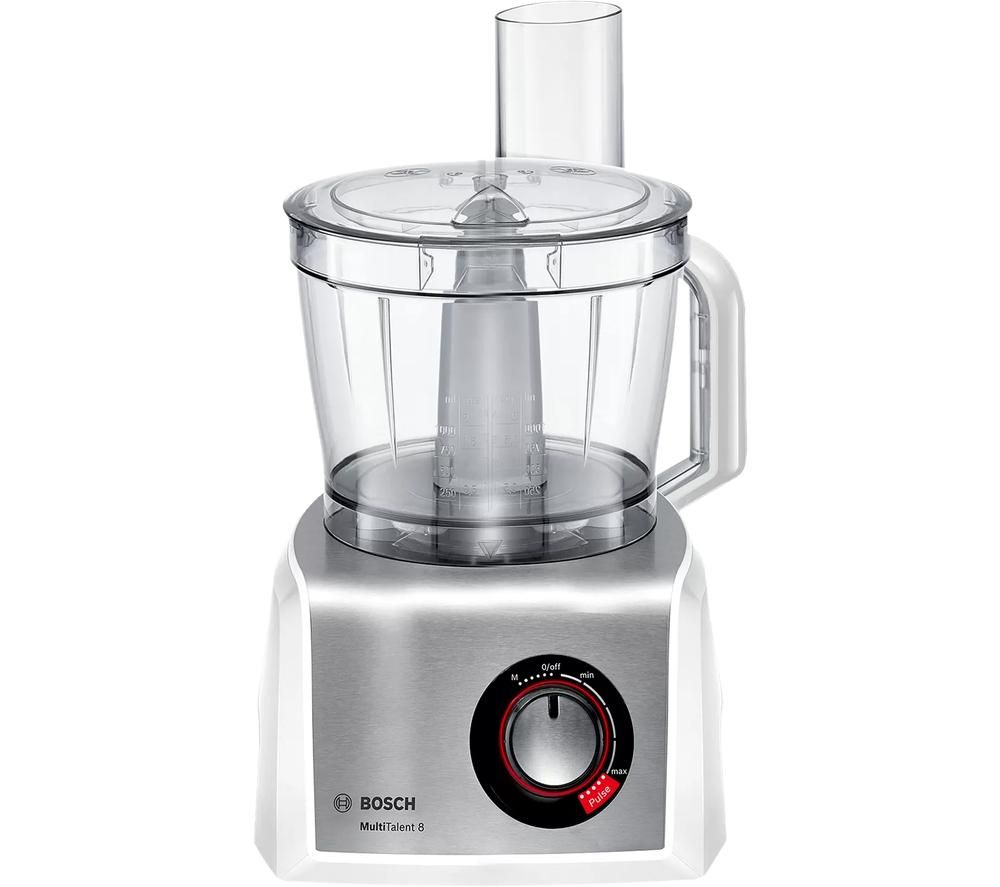 BOSCH MultiTalent8 MC812S734G Food Processor - Silver & White, Silver