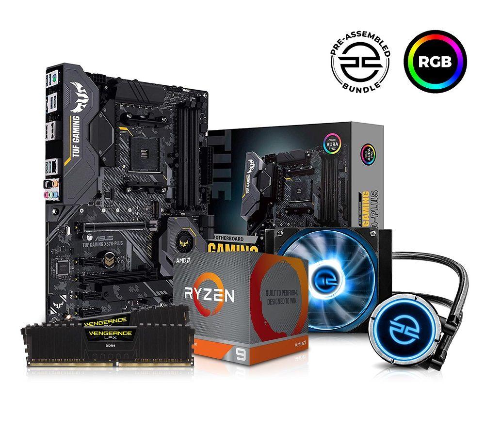 Image of PC SPECIALIST AMD Ryzen 9 Processor, TUF Gaming Motherboard, 16 GB RAM & FrostFlow Liquid Cooler Components Bundle