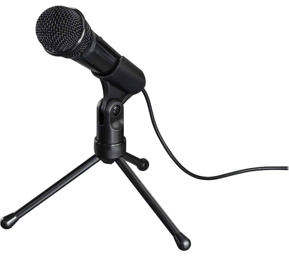 Image of Hama MIC-935 Allround PC microphone Black Corded incl. stand