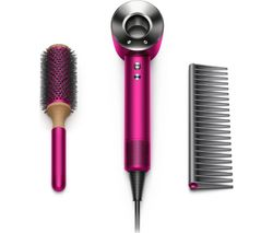Supersonic Gift Edition Hair Dryer with Brush & Comb - Fuchsia & Nickel