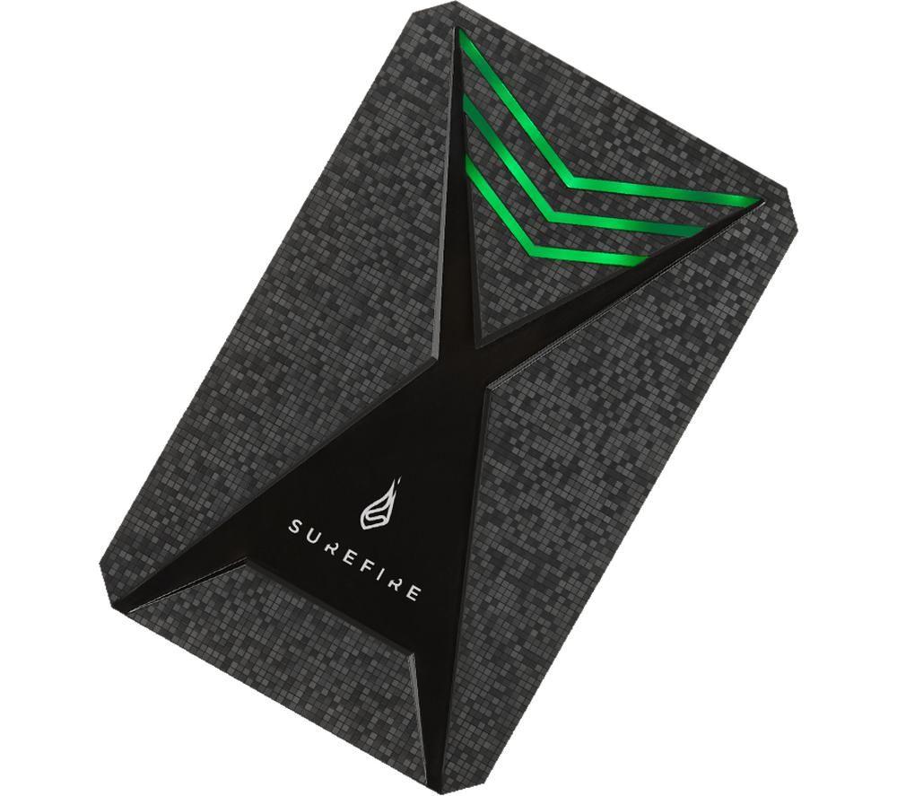 SUREFIRE GX3 Gaming Portable Hard Drive - 2 TB, Black