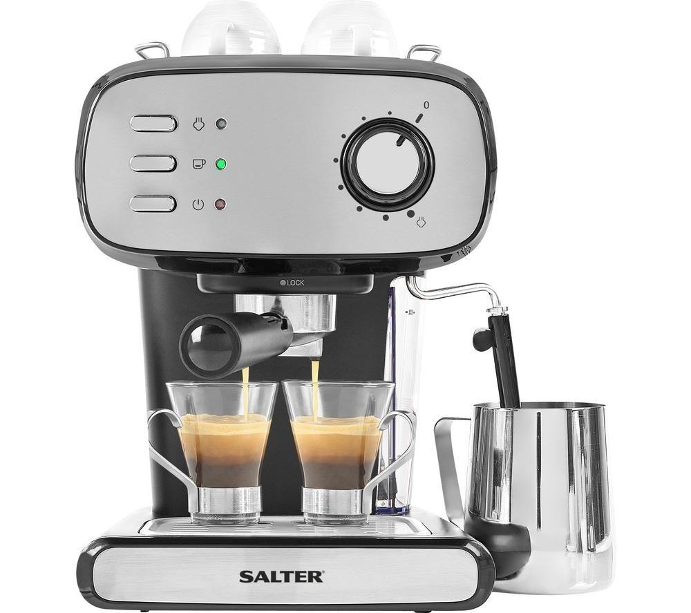 SALTER Caff� Barista Pro EK4369 Coffee Machine - Silver, Silver