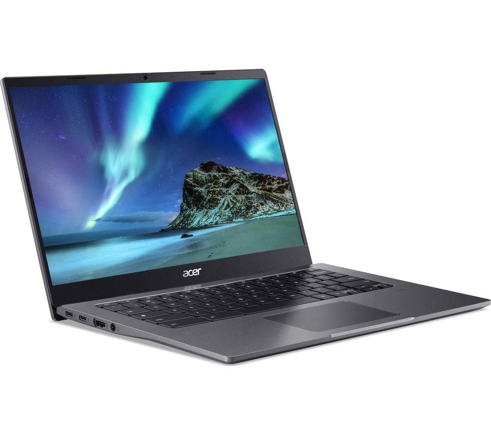 "Image of ACER 514 14"" Chromebook - Intel®Pentium Gold, 128 GB SSD, Grey, Gold"