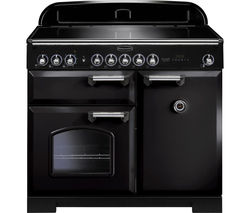 RANGEMASTER Classic Deluxe 100 Electric Induction Range Cooker - Black & Chrome
