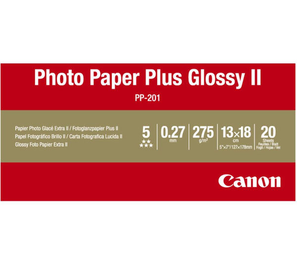 Buy Canon 130 X 180 Mm Photo Paper Plus Glossy Ii 20 Sheets Free