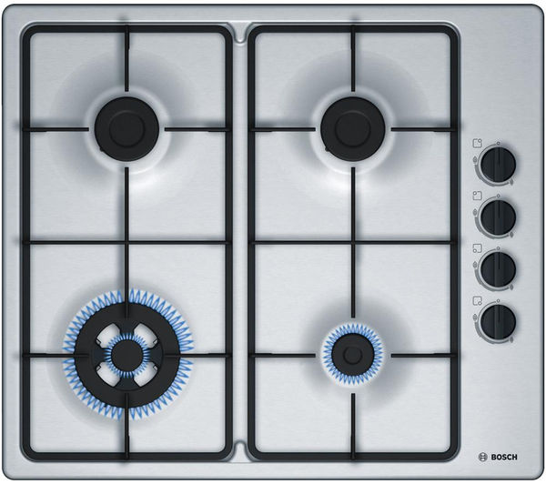 Image of BOSCH PBH6B5B60 Gas Hob - Stainless Steel