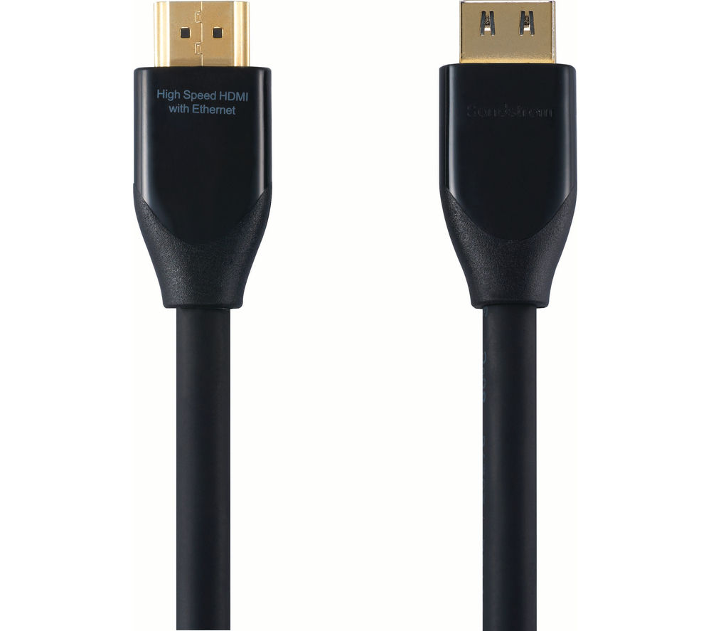 SANDSTROM Black Series S3HDM115 High Speed HDMI Cable with Ethernet - 3 m