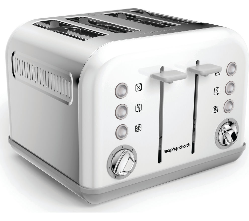 buy morphy richards accents 242032 4 slice toaster white. Black Bedroom Furniture Sets. Home Design Ideas