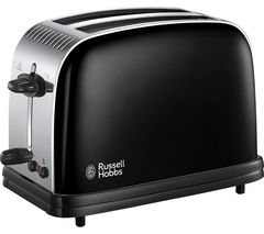 RUSSELL HOBBS Colours Plus 23331 2-Slice Toaster - Black