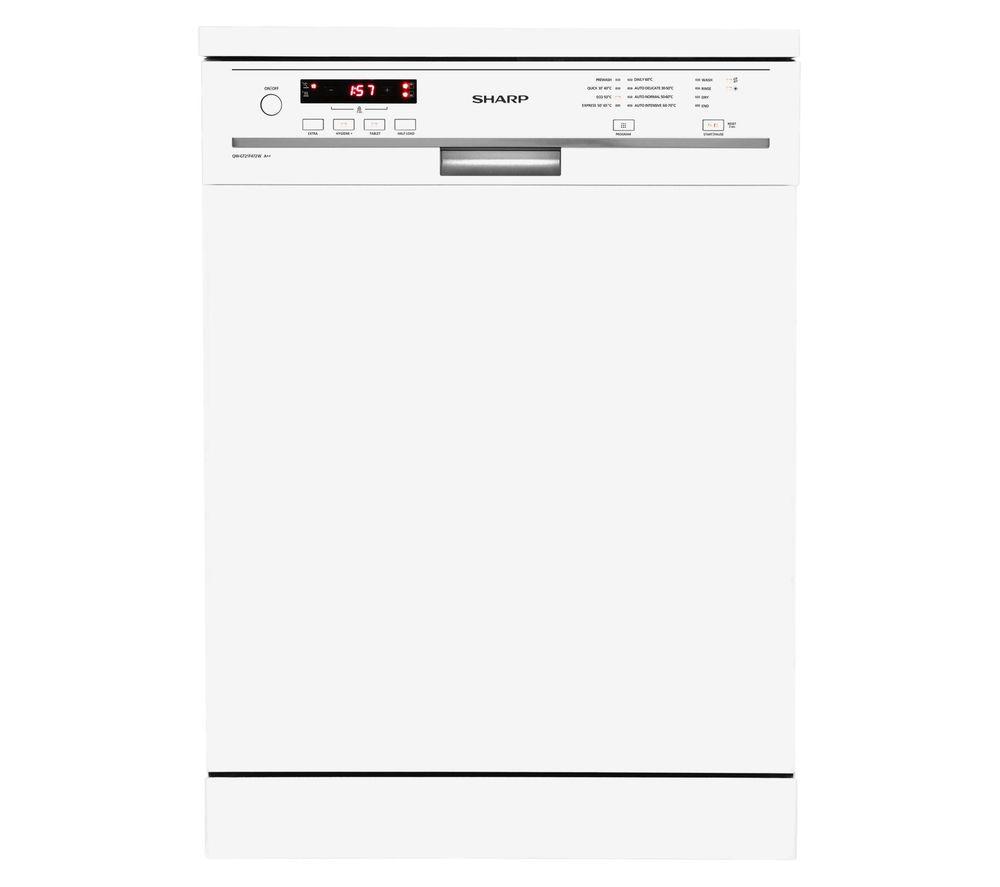 SHARP QW-GT21F472W Full-size Dishwasher - White