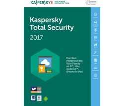 KASPERSKY Total Security 2017 - 1 year for 10 devices