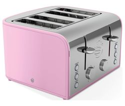 SWAN Retro ST17010PN 4-Slice Toaster - Pink