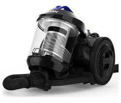VAX Power Stretch Pet Cylinder Bagless Vacuum Cleaner - Black & Blue