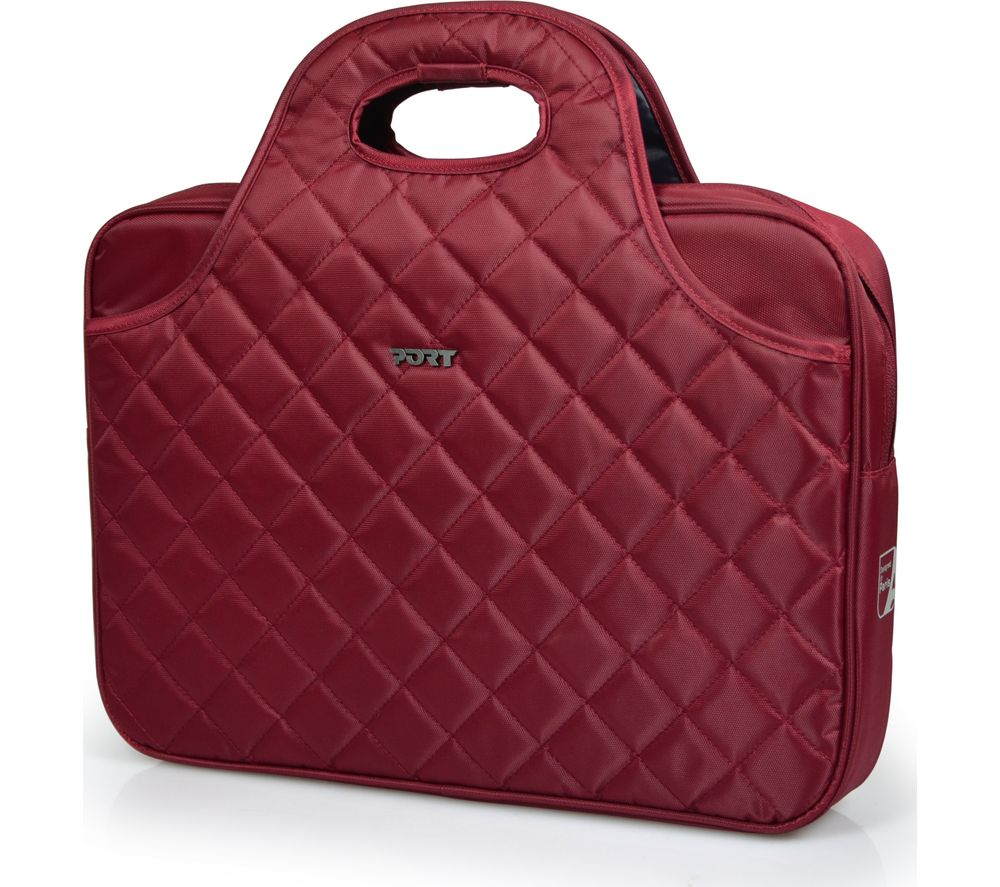 "Image of PORT DESIGNS Firenze 15.6"" Laptop Bag - Red, Red"