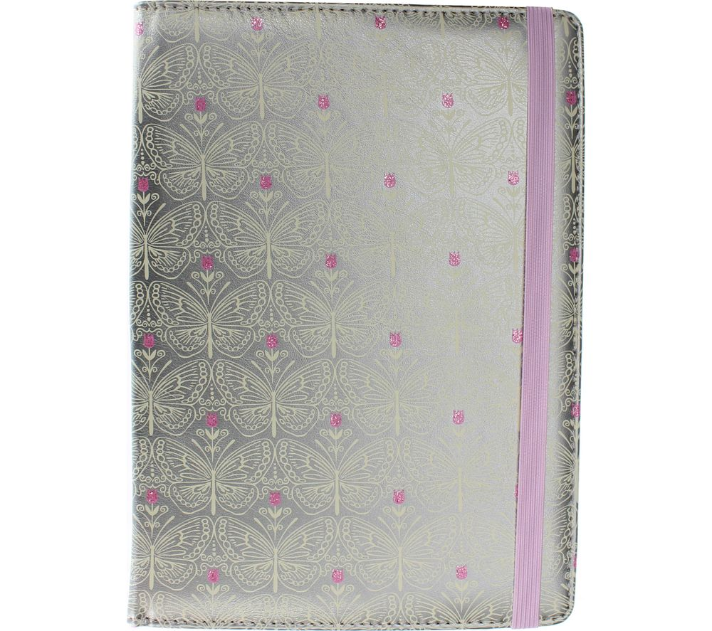 "ACCESSORIZE Silver Butterfly 8"" Tablet Case"