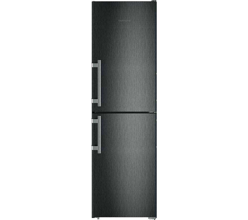 LIEBHERR CNbs3915 50/50 Fridge Freezer - Black Steel, Black