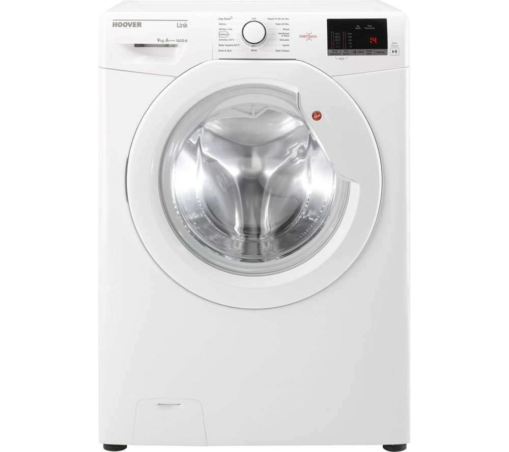 Compare retail prices of Hoover DHL 1492D3 NFC 9 kg 1400 Spin Washing Machine to get the best deal online