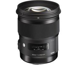SIGMA 50 mm f/1.4 DG HSM Standard Prime Lens - for Canon